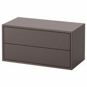 ЭКЕТ Шкаф с 2 ящиками,темно-серый